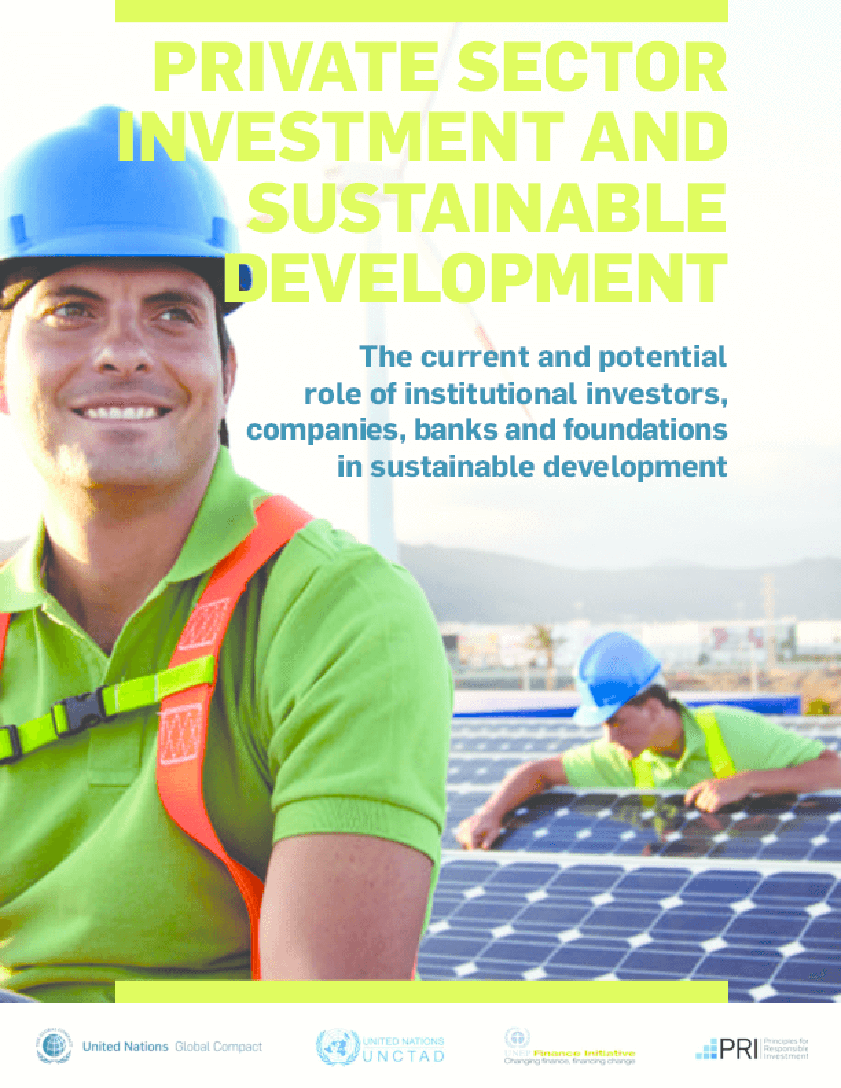 Private Sector Investment and Sustainable Development: The Current and Potential Role of Institutional Investors, Companies, Banks and Foundations in Sustainable Development