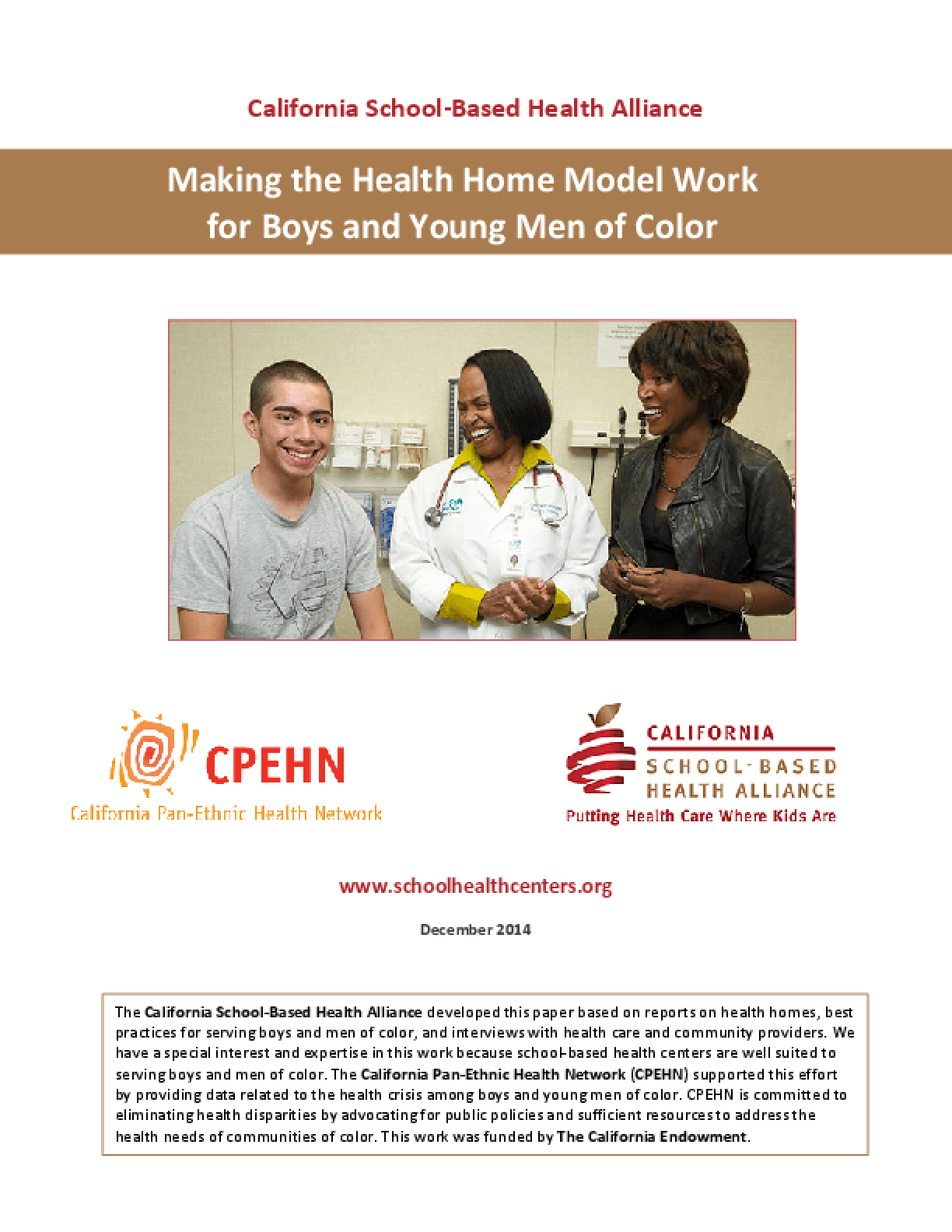 Making the Health Home Model Work for Boys and Young Men of Color