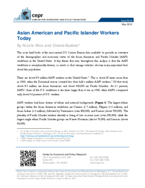 Asian American and Pacific Islander Workers Today