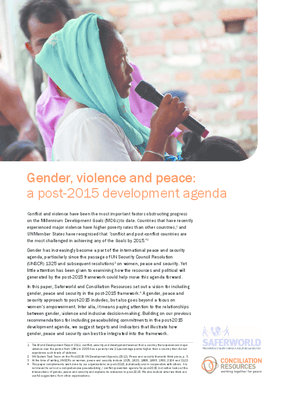 Gender, Violence and Peace: A Post-2015 Development Agenda
