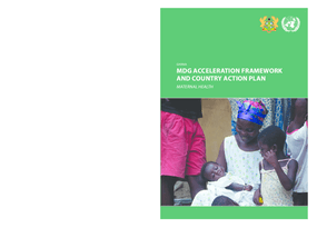 MDG Acceleration Framework and Country Action Plan: Maternal Health