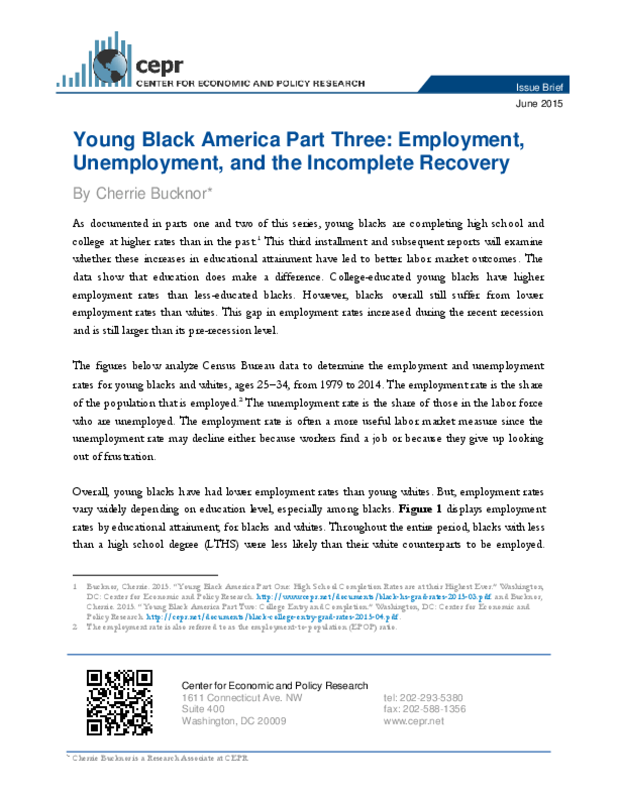 Young Black America Part Three: Employment, Unemployment, and the Incomplete Recovery