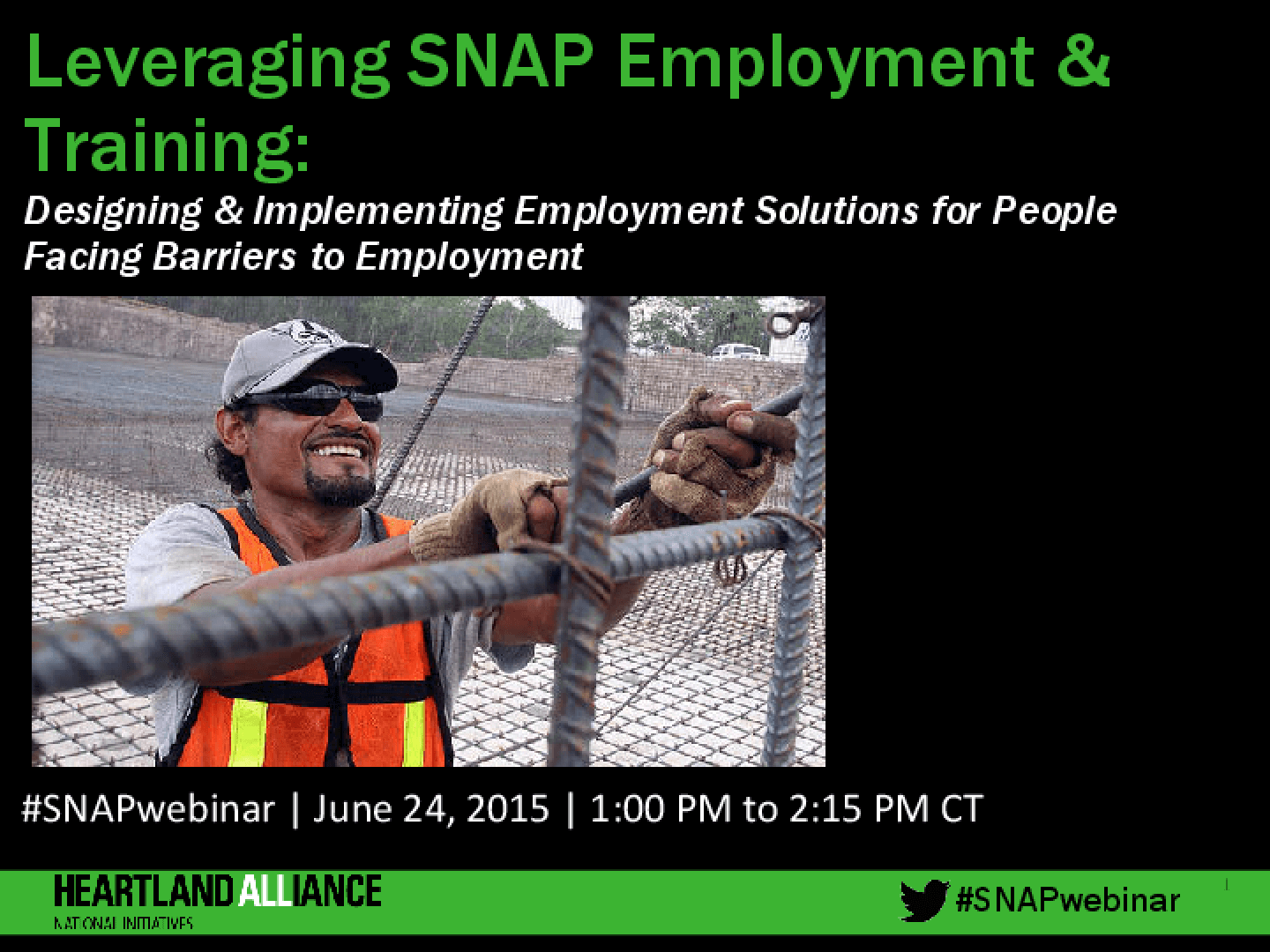 Leveraging SNAP E&T: Designing and Implementing Employment Solutions for People Facing Barriers to Employment