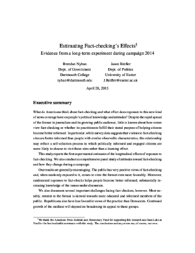 Estimating Fact-checking's Effects: Evidence From a Long-term Experiment During Campaign 2014