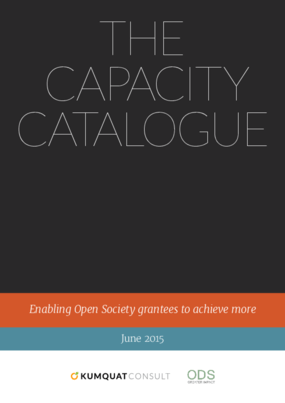 The Capacity Catalogue: Enabling Open Society Grantees to Achieve More