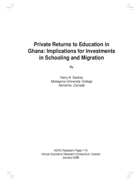 Private Returns to Education in Ghana: Implications for Investments in Schooling and Migration