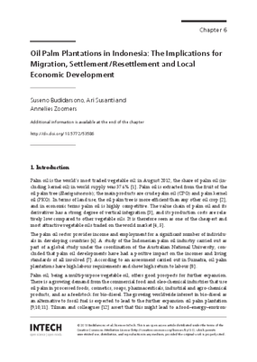 Oil Palm Plantations in Indonesia: The Implications for Migration, Settlement/Resettlement and Local Economic Development