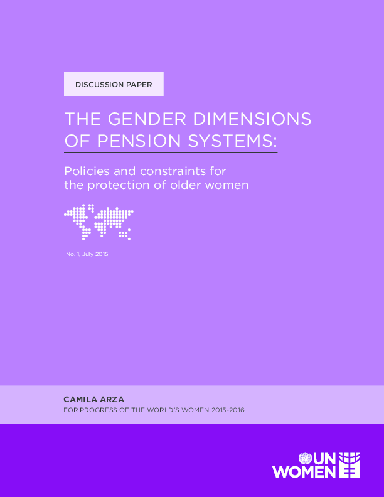 The Gender Dimensions of Pension Systems: Policies and Constraints for the Protection of Older Women