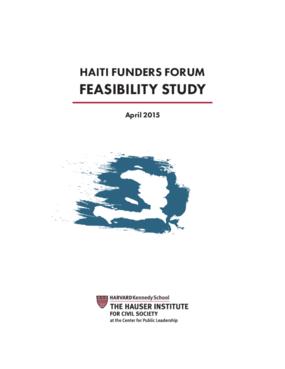 Haiti Funders Forum Feasibility Study