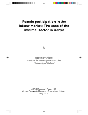 Female Participation in the Labour Market: the Case of the Informal Sector in Kenya