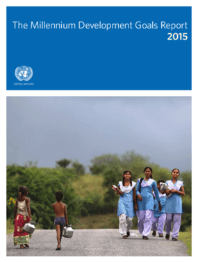 The Millennium Development Goals Report 2015