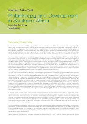 Philanthropy and Development in Southern Africa: Executive Summary