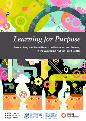 Learning for Purpose: Researching the Social Return on Education and Training in the Australian Not-for-Profit Sector