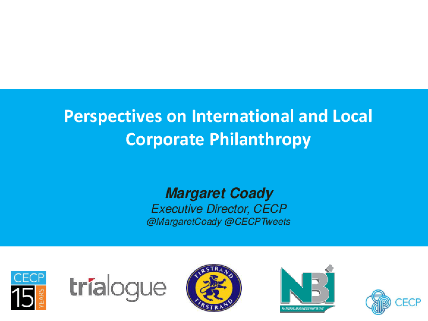 Perspectives on International and Local Corporate Philanthropy