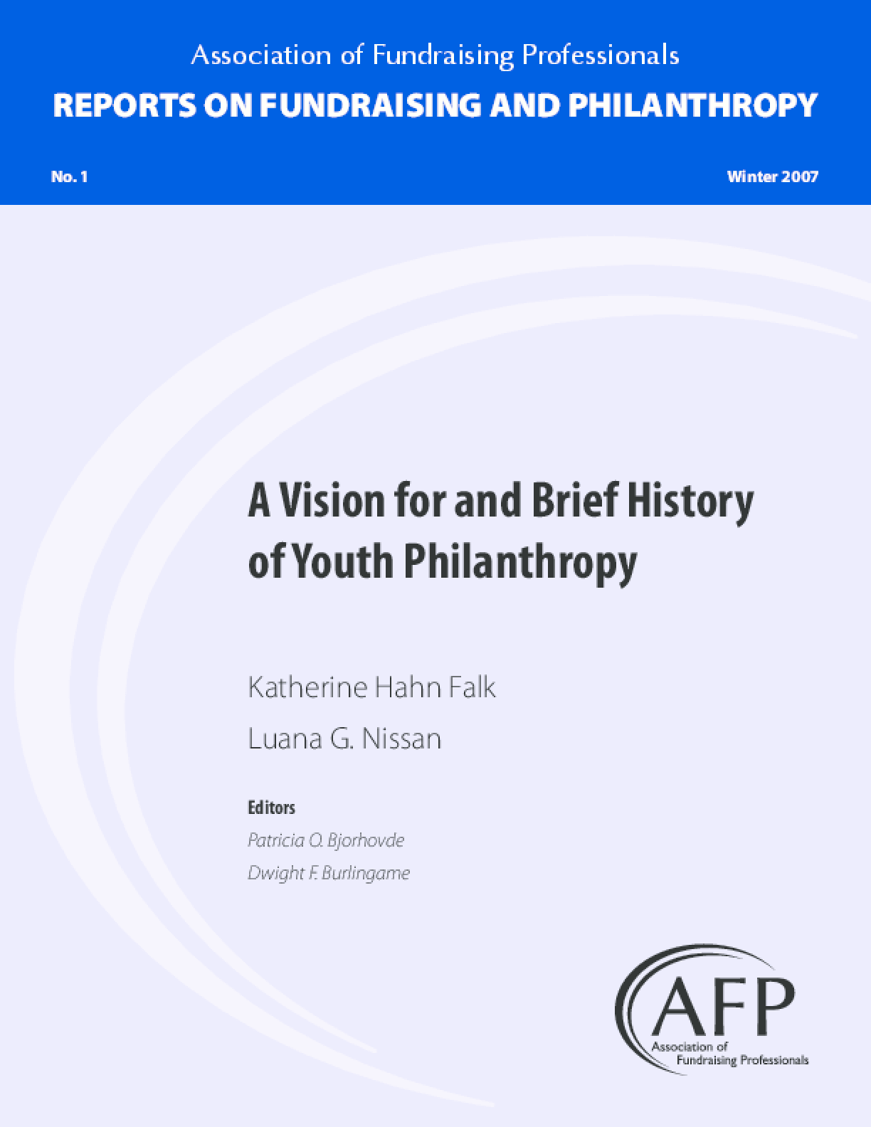 A Vision for and Brief History of Youth Philanthropy