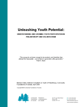 Unleashing Youth Potential: Understanding and Growing Youth Participation in Philanthropy and Volunteerism