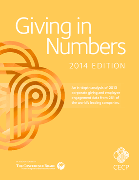 Giving In Numbers: 2014 Edition