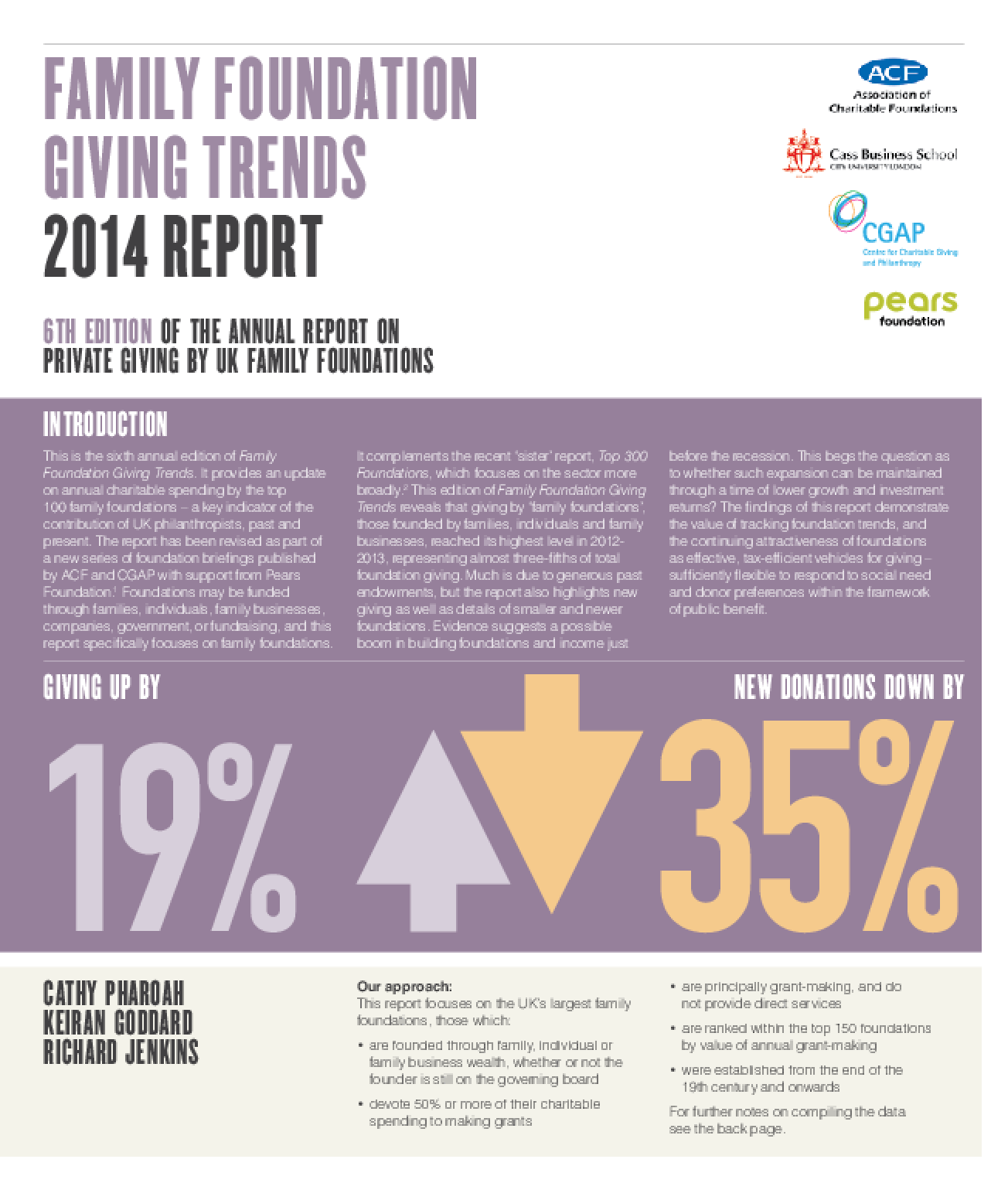 Family Foundations Giving Trends 2014 Report
