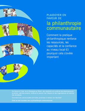 Plaidoyer en Faveur de la Philanthropie Communautaire