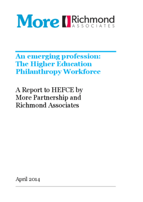 An Emerging Profession: The Higher Education Philanthropy Workforce