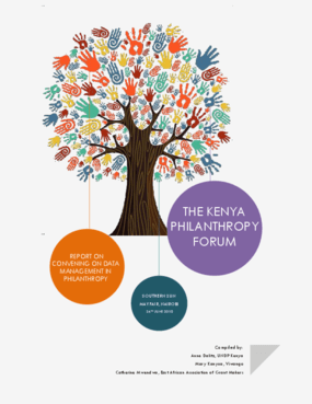 Report on Convening on Data Management in Philanthropy