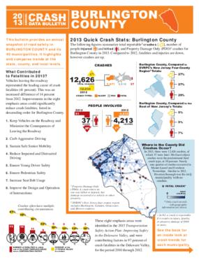 2013 Crash Data Bulletin - Burlington County