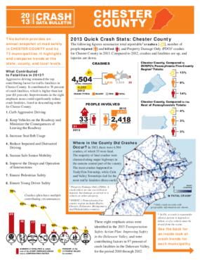 2013 Crash Data Bulletin - Chester County
