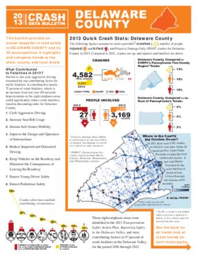 2013 Crash Data Bulletin - Delaware County