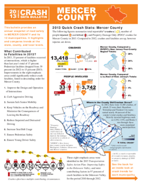2013 Crash Data Bulletin - Mercer County