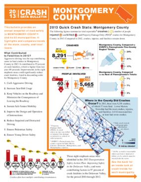 2013 Crash Data Bulletin - Montgomery County