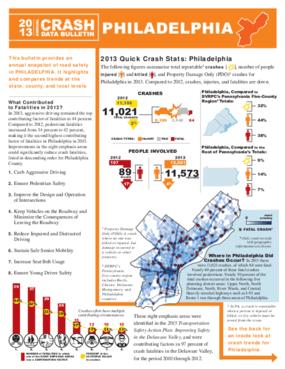 2013 Crash Data Bulletin - Philadelphia County