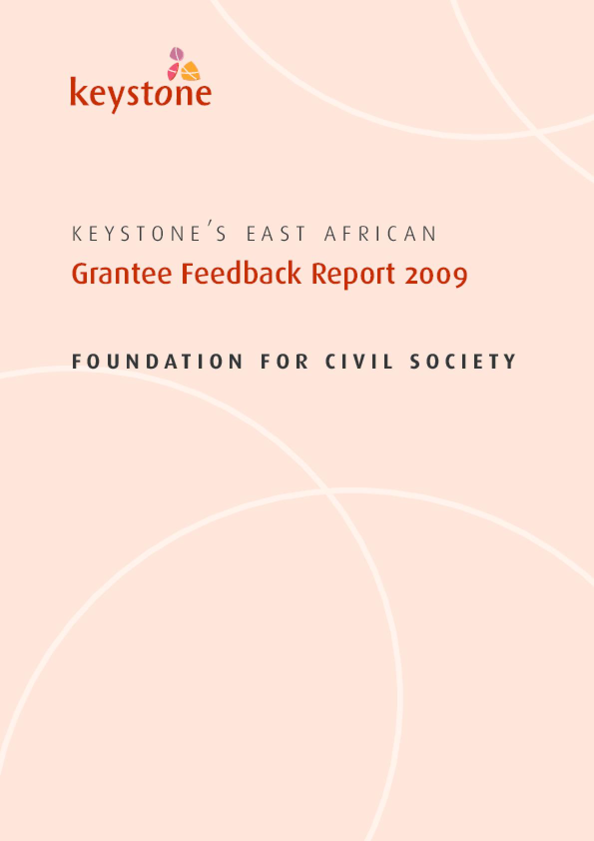 Grantee Feedback Report 2009