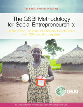 The GSBI Methodology for Social Entrepreneurship: Lessons from 12 Years of Capacity Development with 365 Social Enterprises