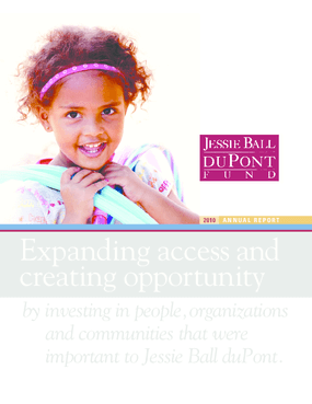Jessie Ball duPont Fund: 2010 Annual Report