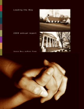 Leading the Way: Jessie Ball duPont Fund 2009 Annual Report