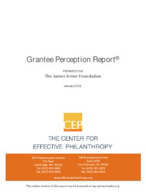 Grantee Perception Report 2015: James Irvine Foundation