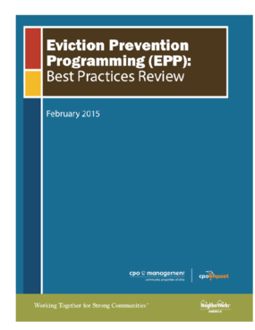 Eviction Prevention Programming (EPP): Best Practices Review Feb 2015