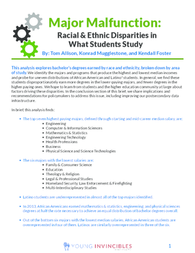 Major Malfunction: Racial and Ethnic Disparities in What Students Study