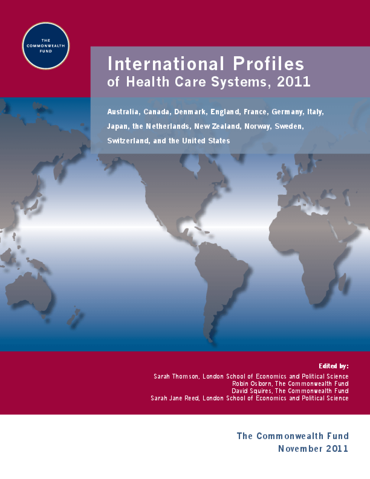 International Profiles of Health Care Systems, 2011
