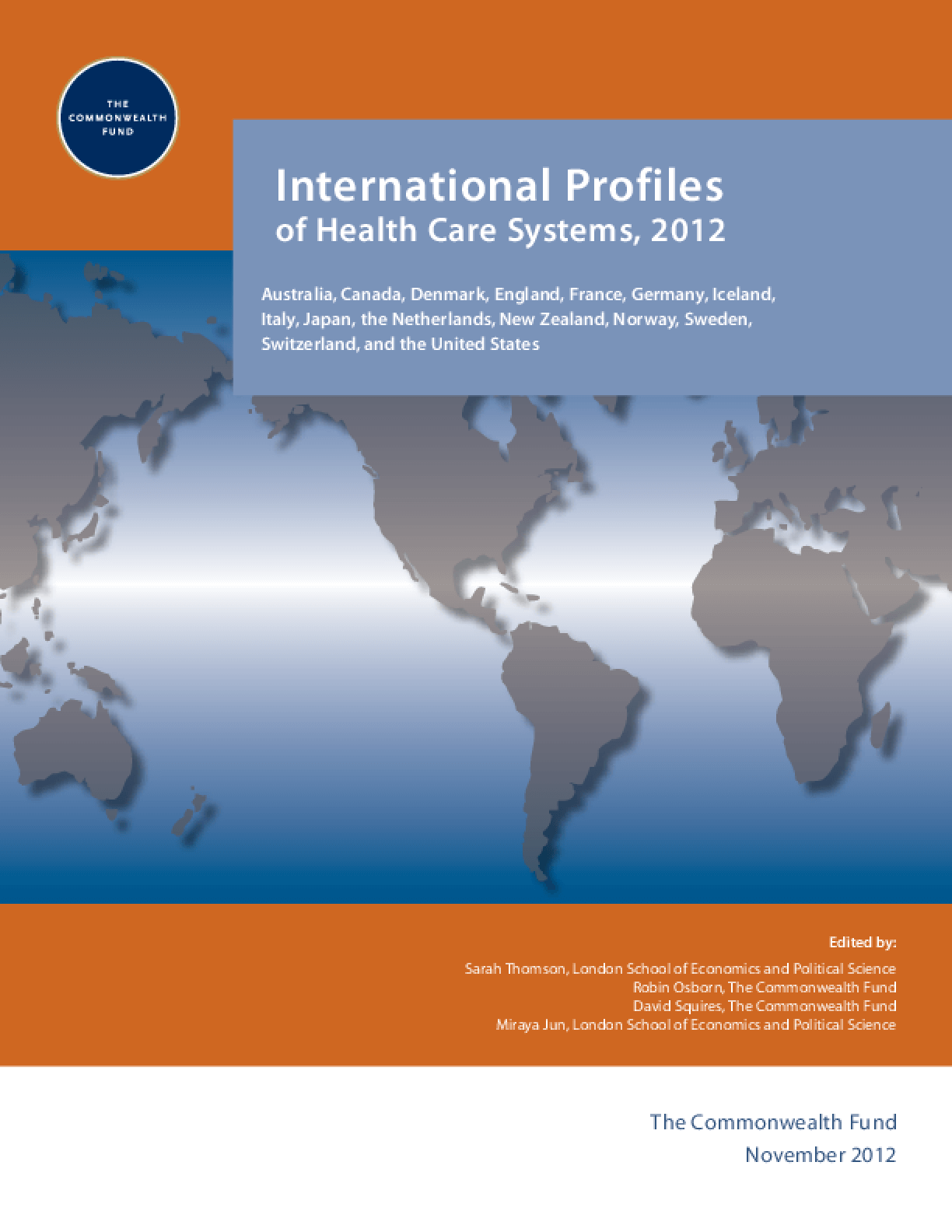 International Profiles of Health Care Systems, 2012