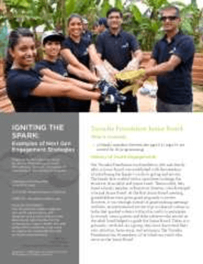 Igniting the Spark: Examples of Next Gen Engagement Strategies, Tarsadia Foundation