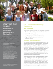 Igniting the Spark: Examples of Next Gen Engagement Strategies, the Lawrence Welk Family Foundation