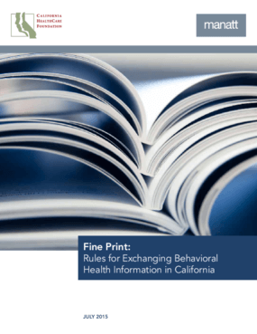 Fine Print: Rules For Exchanging Behavioral Health Information In California