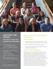 Igniting the Spark: Examples of Next Gen Engagement Strategies, phish, a Program of the Dekko Foundation