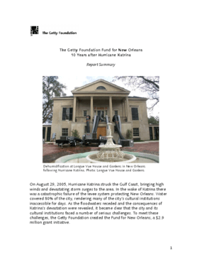 The Getty Foundation Fund For New Orleans 10 Years After Hurricane Katrina: Report Summary