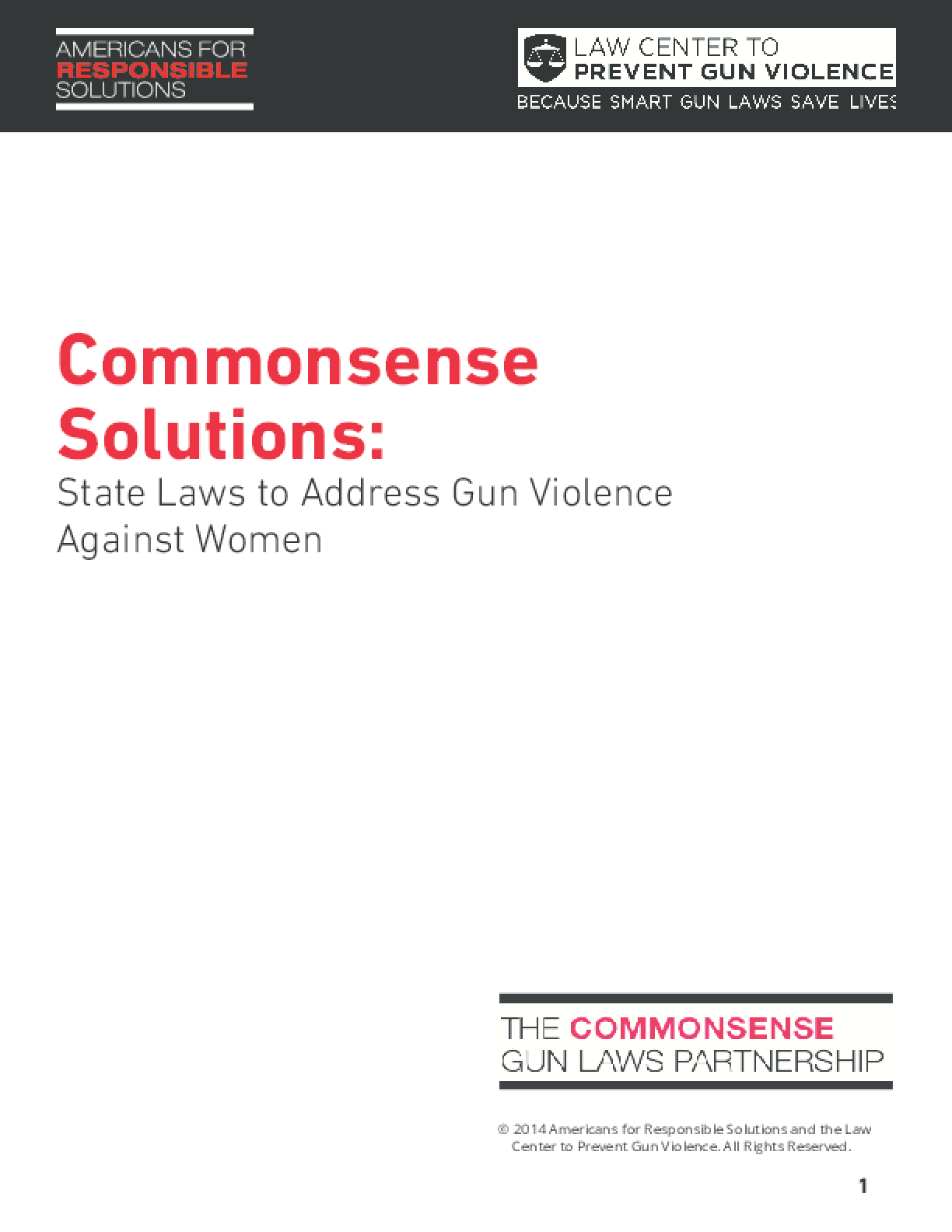 Commonsense Solutions: State Laws to Address Gun Violence Against Women