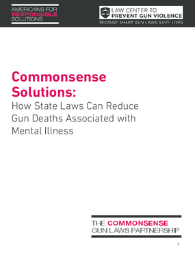 Commonsense Solutions: How State Laws Can Reduce Gun Deaths Associated with Mental Illness
