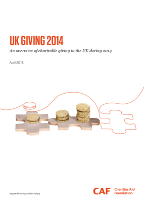 UK Giving 2014 : An Overview of Charitable Giving in the UK During 2014