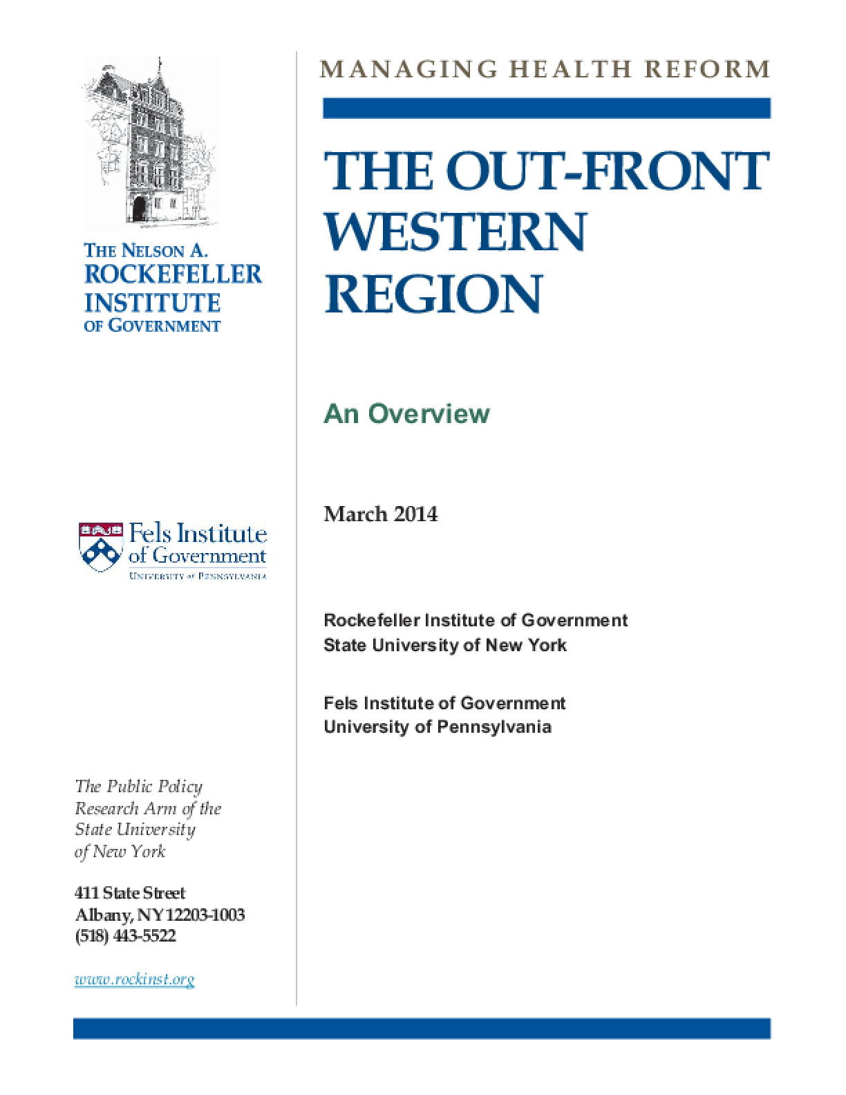 The Out-Front Western Region: An Overview