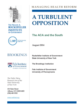 A Turbulent Opposition: The ACA and the South